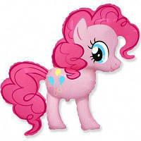 Фольгированные шары большие фигуры  my little pony пони пинки пай розовый 95х100 см FlexMetal