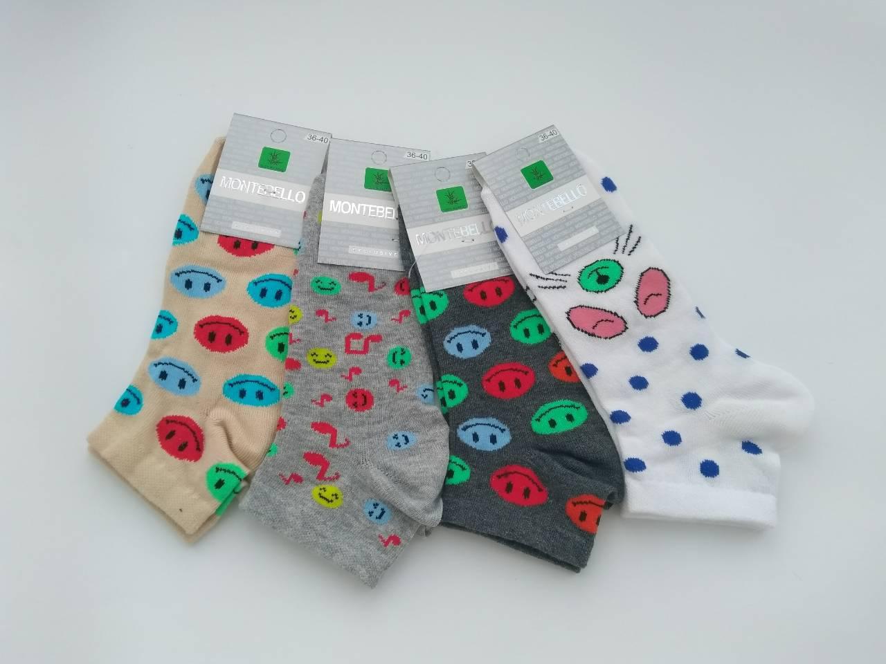 Женские носки Montebello смайлики