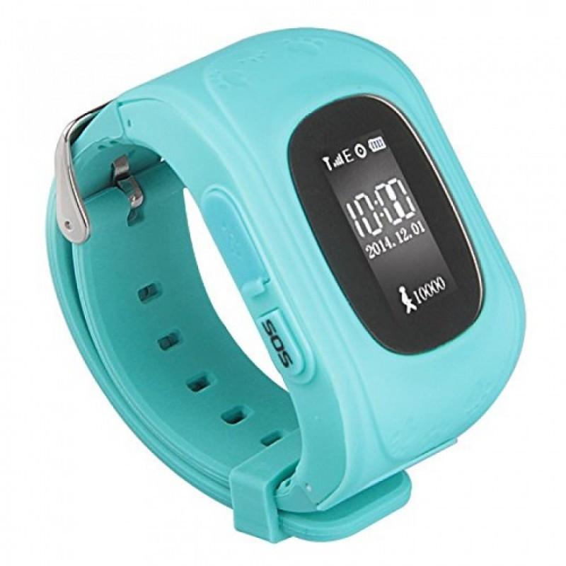 GW300 Smart Baby Watch Q50 детские смарт часы с трекером (без коробки), Light Blue (мята)