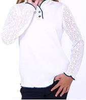 Джемпер дд мод. 6131 білий размер 134-140, 100% хлопок