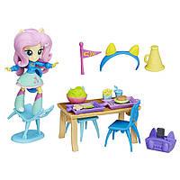 Игровой набор Май лител пони мини Флаттершай школьное кафе My Little Pony Equestria Girls Minis Fluttershy