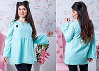 Женская нарядная блузка черный, молоко, пудра, мята 881078/1 (бат)