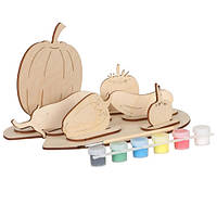 Сборная деревянная модель Овощи + краски