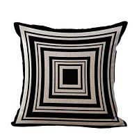 Главная Декоративная подушка Простой геометрический шаблон Диван Подушка Чёрный