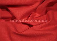 Ткань лён стрейчевый красный
