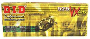 Приводная цепь DID 525VX G&B - 112ZB Gold / Black ( 525 x 112 ) D.I.D сальники X-Ring