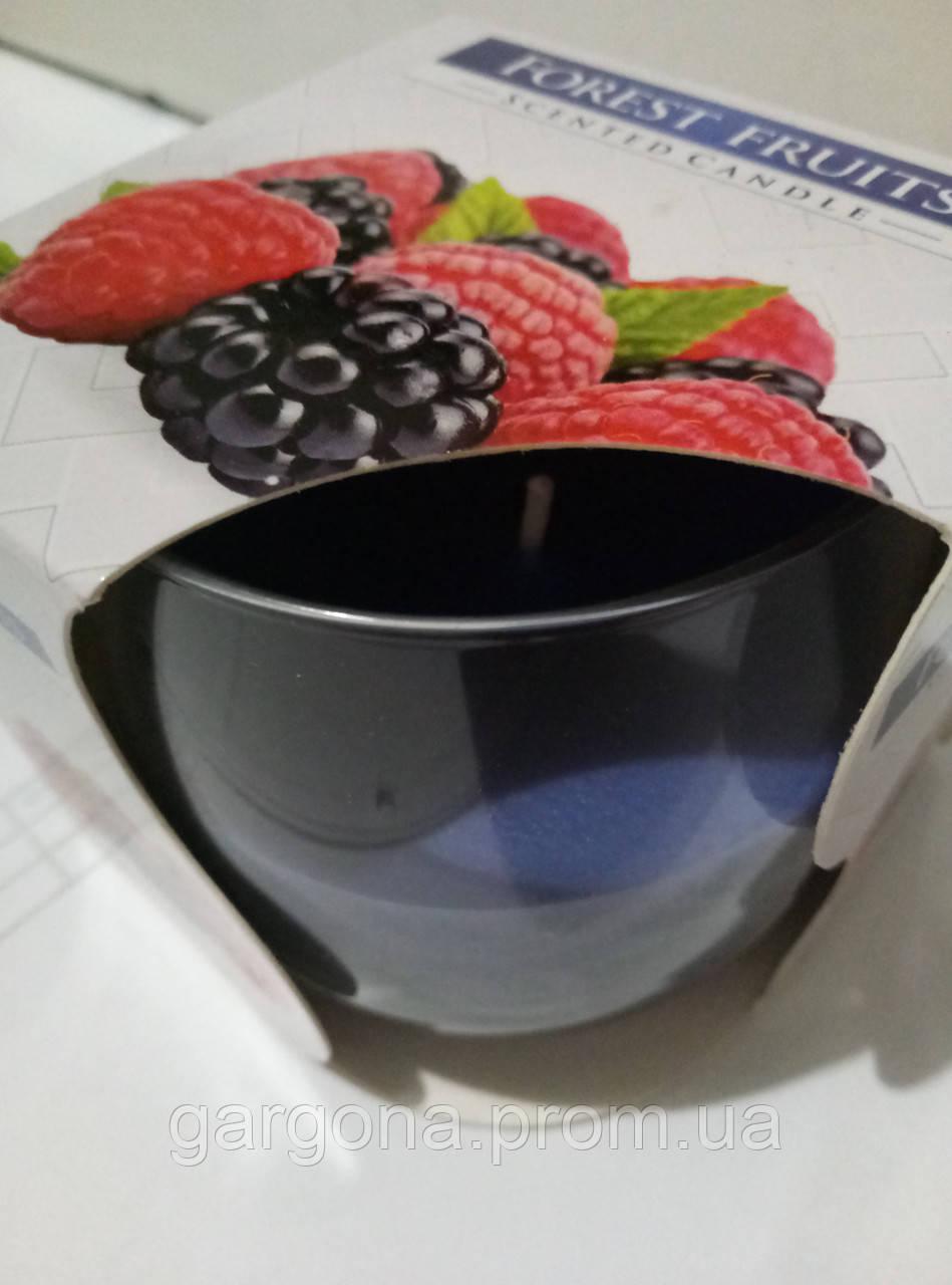 """Ароматическая свеча в стекле """"лесовые ягоды"""""""