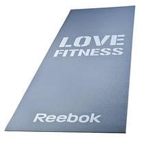 Спортивный коврик Reebok RAMT-11024GRL для фитнеса (серый) 1730х610х4 мм, фото 2