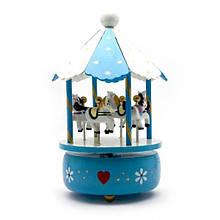 Статуэтка Музыкальная карусель синяя