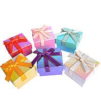 Подарочная коробочка для кольца  и серьг - Блестящий микс