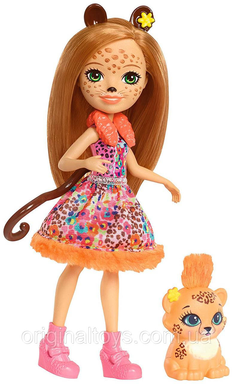 Лялька Enchantimals Чериш Гепарди і Квік-Квік Cherish Cheetah Doll & Quick-Quick