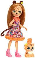 Лялька Enchantimals Чериш Гепарди і Квік-Квік Cherish Cheetah Doll & Quick-Quick, фото 1