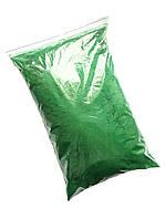 Зеленая Флок-пудра, бархатная пудра (пыльца, ворсовой порошок, ворса) 330 грамм/упаковка №6, фото 1