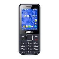 Кнопочный мобильный телефон на 2 сим карты Maxcom MM141 серый