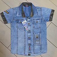Джинсовая детская рубашка на мальчика