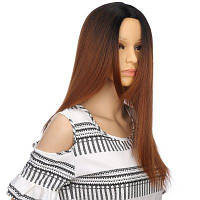 Длинный Ombre Centre Parting Straight Synthetic Wig Цветной