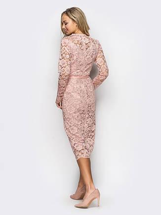 Плаття-футляр з ніжного гіпюру , фото 2
