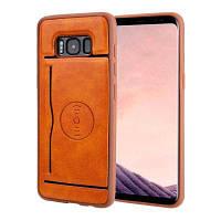Магнитный держатель карты для всасывания Кожаный чехол для мобильного телефона Samsung Galaxy S8