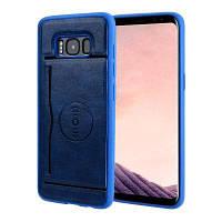 Магнитный держатель карты для всасывания PU Кожаный чехол для мобильного телефона Samsung Galaxy S8 Plus
