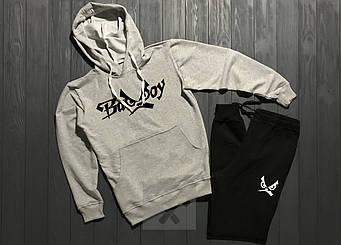 Спортивный костюм Bad Boy черного и серого цвета (люкс копия)