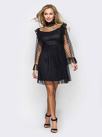 Повітряне плаття-міні з фатину, фото 2