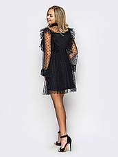 Повітряне плаття-міні з фатину, фото 3