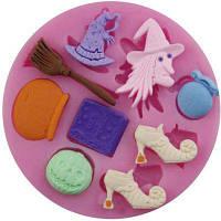 Форма ведьмы 3D Силиконовая плесень Выпечка Пандат Подарочные украшения инструменты шоколад Пресс-формы для мытья инструментов мыла плесени Розовый