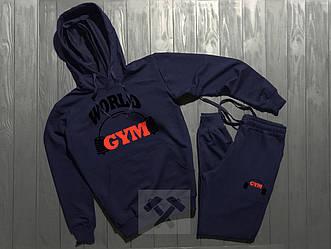 Спортивный костюм World Gym синего цвета