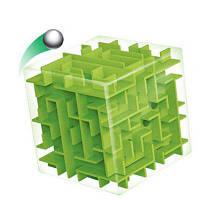 Лисин Новый 3D куб головоломка Деньги лабиринт банка Сохранение монет коллекции Box Box Fun Brain Game Зелёный