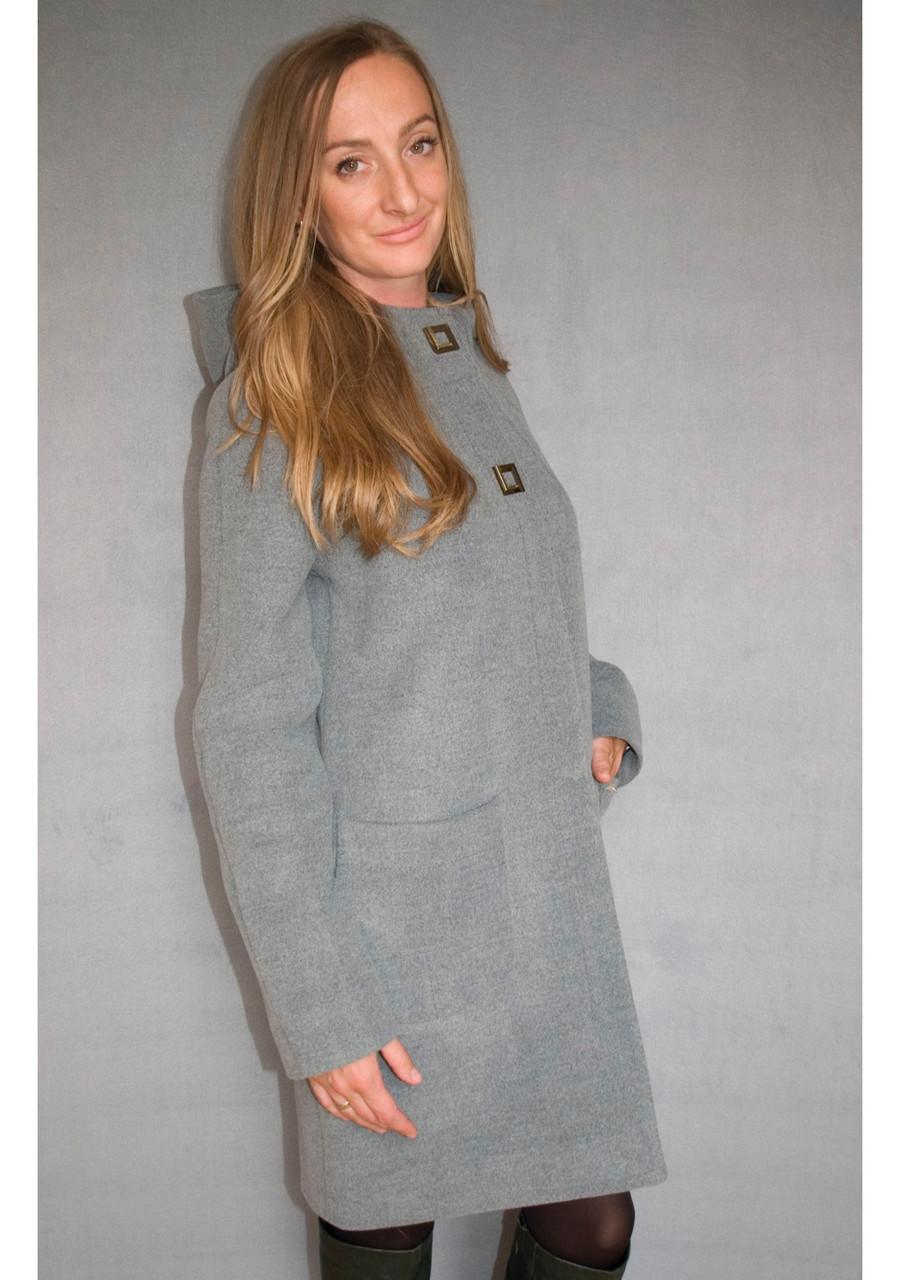 Пальто женское №51/1 Зима серый, размер.50, 52