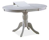 Круглый стол на кухню белого цвета (106х141х106х75) SIGNAL OLIVIA