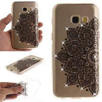 Black Half Flower Diamond Soft Clear IMD Корпус для телефона TPU для мобильного телефона Смартфон Корпус для Samsung A5 2017 A520