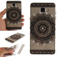 Black Datura Diamond Soft Clear IMD Корпус для телефона TPU для мобильного телефона Смартфон Корпус для Samsung A5 2016 A510