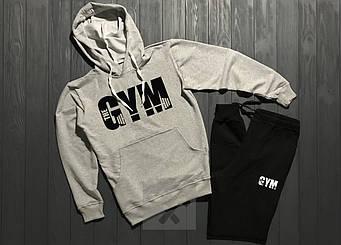Спортивный костюм World Gym серого и черного цвета