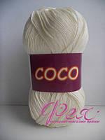 Пряжа хлопковая Vita cotton Coco ( Вита коттон Коко ) №3853 Молочный