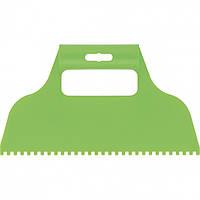 Шпатель для клею, пластмасовий, зубчастий 4х4 мм// СИБРТЕХ