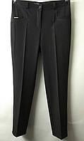 Молодежные брюки со стрелкой. Полу-батал. Длина 7/8 с распоркой. Цвет: черный.