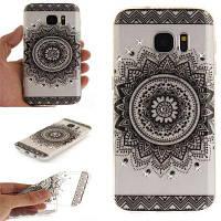 Black Datura Diamond Soft Clear IMD Корпус для телефона TPU для мобильного телефона Смартфон Корпус для Samsung S7