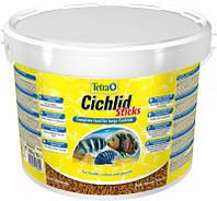 Tetra Cichlid Sticks 10L/2,9кг - Основной корм в виде палочек для всех видов цихлид