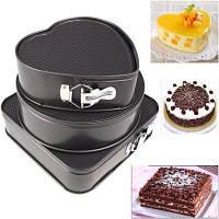 3PCS Happy Birthday Cake Molds Set Простой прочный нелипкий инструмент для выпечки Чёрный