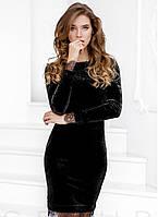 Классическое бархатное платье Jill M Черный s