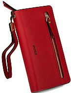 Женские кошельки-клатчи (красный)20*10см