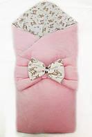 """Демисезонный велюровый конверт одеяло для новорожденного """"Мечта"""", фото 1"""