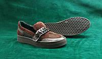 Очень мягкие коричневые женские туфли-мокасины.