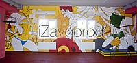 Роспись стен и потолков в кабинетах и тренажерном зале