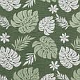 Гобелен ткань, листья монстеры, зелёный, фото 2