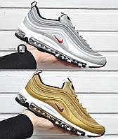 Мужские кроссовки Nike Air Max 97 Silver&Gold