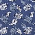 Гобелен ткань, листья папоротника, синий, фото 2