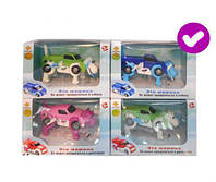 Детская  игрушка  Транспорт синий JD-902AB трансформер заводной 14*10*14