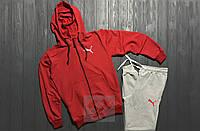 Спортивный костюм Puma красного и серого цвета